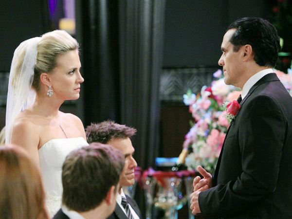 "<div class=""meta ""><span class=""caption-text "">2010s: Sonny and Kate's Wedding - Connie revealed herself the day before and blackmailed Johnny into marrying her so he could institutionalize her.   (ABC Photo/ ADAM LARKEY)</span></div>"