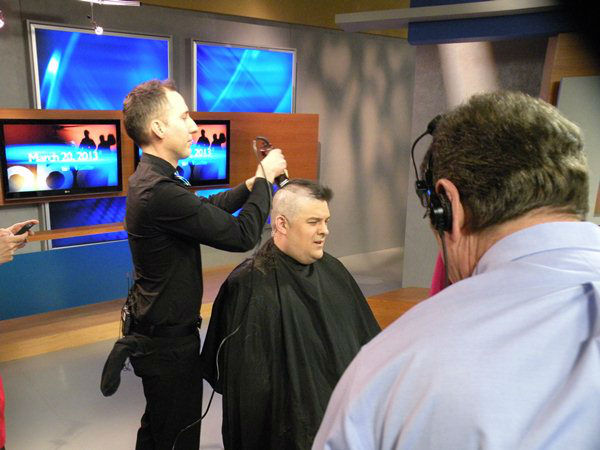 "<div class=""meta image-caption""><div class=""origin-logo origin-image ""><span></span></div><span class=""caption-text"">Don Schwenneker gives up his luscious locks to support bone marrow donation for cancer patients (WTVD Photo/ Ian Slack)</span></div>"