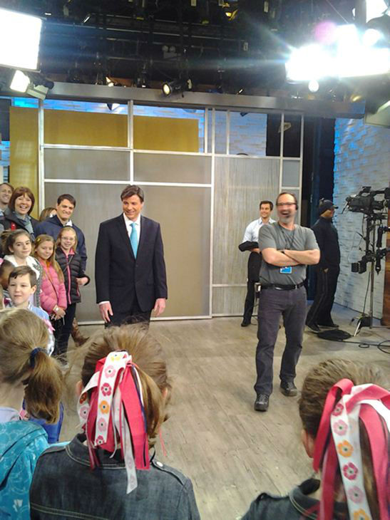 "<div class=""meta ""><span class=""caption-text "">Behind the scenes with Bruce Foraker as he's named a winner in GMA's Seeing Double contest. Does he look like George Stephanopoulos? (ABCNews Photo)</span></div>"