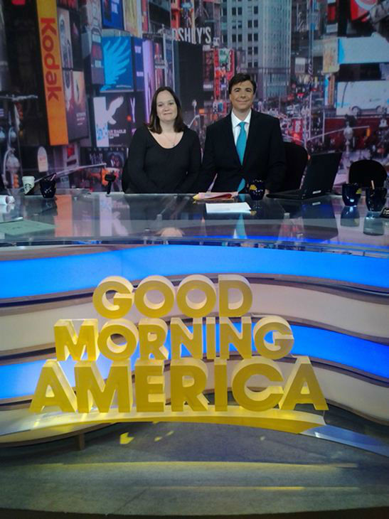 Behind the scenes with Bruce Foraker as he&#39;s named a winner in GMA&#39;s Seeing Double contest. Does he look like George Stephanopoulos? <span class=meta>(ABCNews Photo)</span>