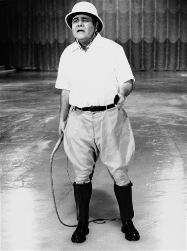 This Sept. 22, 1967 file photo released by ABC shows comedian Jonathan Winters, hosting &#34;Holiday on Ice.&#34; Winters, whose breakneck improvisations inspired Robin Williams, Jim Carrey and many others, died Thursday, April 11, 2013, at his Montecito, Calif., home of natural causes. He was 87. <span class=meta>(AP Photo&#47; ABC-TV)</span>