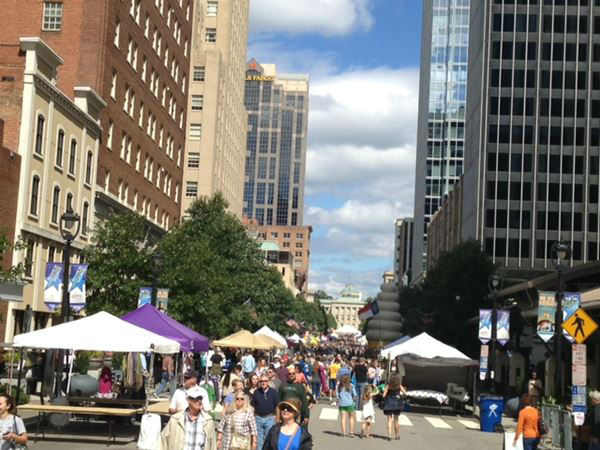 More than 100 bands came to Downtown Raleigh to entertain folks of all ages, and a Whole Hog Barbecue Championship took place Saturday. <span class=meta>(WTVD Photo)</span>