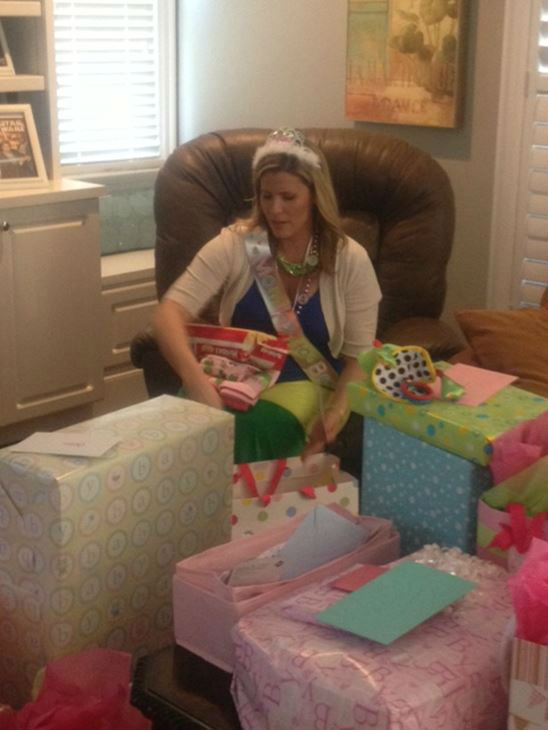 There will soon be an addition to the ABC11 family, and the Eyewitness News ladies held a baby shower for Caitlin Knute <span class=meta>(WTVD Photo&#47; Lori Denberg)</span>