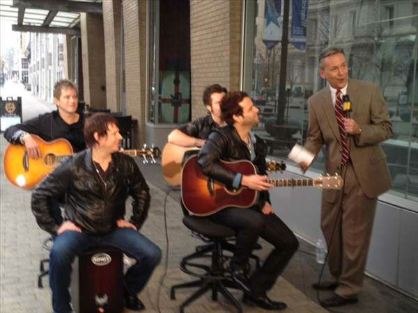 "<div class=""meta ""><span class=""caption-text "">The band Parmalee played ""Carolina,"" which will be released on Feb. 4 - more at parmalee.com/@parmalee on Twitter. (WTVD Photo/ Lori Denberg)</span></div>"