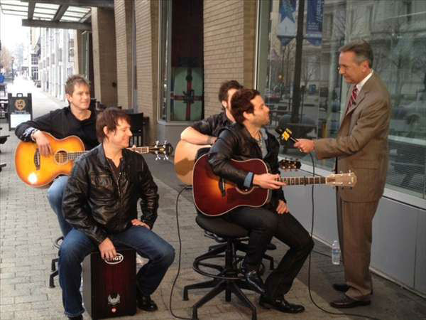 The band Parmalee played &#34;Carolina,&#34; which will be released on Feb. 4 - more at parmalee.com&#47;@parmalee on Twitter. <span class=meta>(WTVD Photo&#47; Lori Denberg)</span>