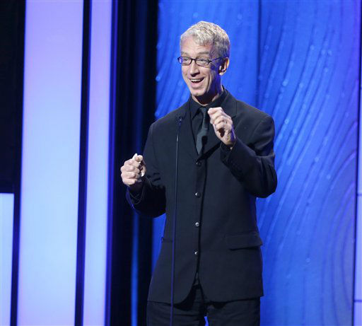 "<div class=""meta image-caption""><div class=""origin-logo origin-image ""><span></span></div><span class=""caption-text"">Comedian Andy Dick  (AP Photo/Todd Williamson)</span></div>"