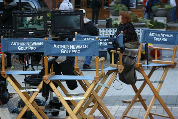 On the set of Arthur Newman, Golf Pro in downtown Raleigh. <span class=meta>(Photographer Maureen Lingle)</span>