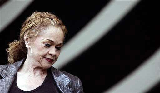 "<div class=""meta ""><span class=""caption-text "">Etta James performs during the 2006 New Orleans Jazz and Heritage Festival in New Orleans on Saturday, April 29, 2006.  (AP Photo/ JEFF CHRISTENSEN)</span></div>"