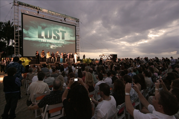 "<div class=""meta ""><span class=""caption-text "">Beach goers are seen at the Lost Premiere on Waikiki Beach, Saturday, Jan. 30, 2010 in Honolulu.    (AP/Marco Garcia)</span></div>"