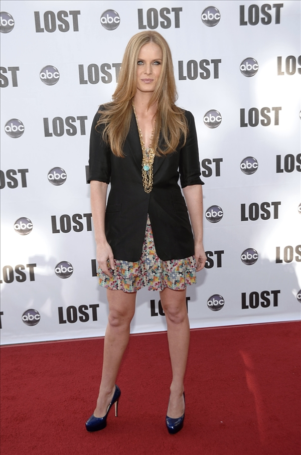 "<div class=""meta ""><span class=""caption-text "">Actress Rebecca Mader arrives at the ""Lost Live: The Final Celebration"" in Los Angeles on Thursday, May 13, 2010.   (AP/Dan Steinberg)</span></div>"