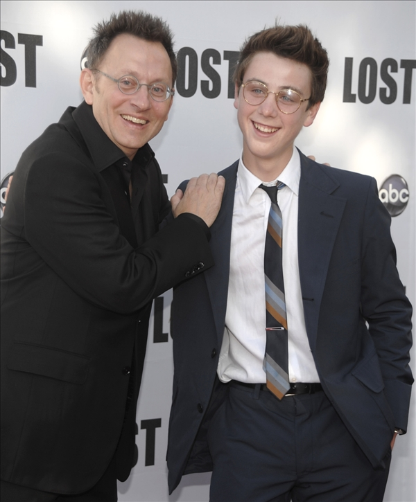 "<div class=""meta ""><span class=""caption-text "">Actor Michael Emerson, left, and actor Sterling Beaumon arrive at the ""Lost Live: The Final Celebration"" in Los Angeles on Thursday, May 13, 2010.   (AP/Dan Steinberg)</span></div>"