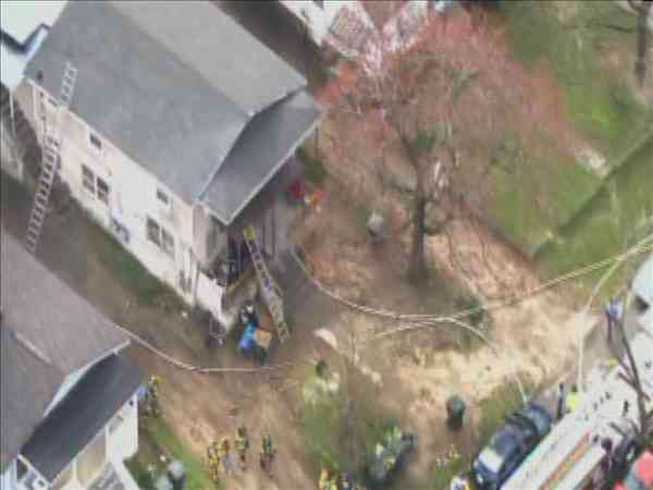 Photos from Chopper11 HD show some burnt debris in the back of a Quarry Street home in Raleigh Tuesday. <span class=meta>(WTVD Photo&#47; Chopper11 HD)</span>