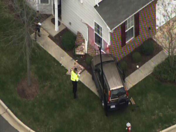 "<div class=""meta image-caption""><div class=""origin-logo origin-image ""><span></span></div><span class=""caption-text"">A small SUV ran into the side of a townhome building in the 500 block of Ringleaf Ct. in Cary Tuesday. (WTVD Photo)</span></div>"