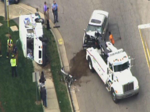 "<div class=""meta image-caption""><div class=""origin-logo origin-image ""><span></span></div><span class=""caption-text"">A car and a USPS delivery vehicle collided Monday morning at Valley Stream and Buffaloe Rd in Raleigh. (WTVD Photo)</span></div>"