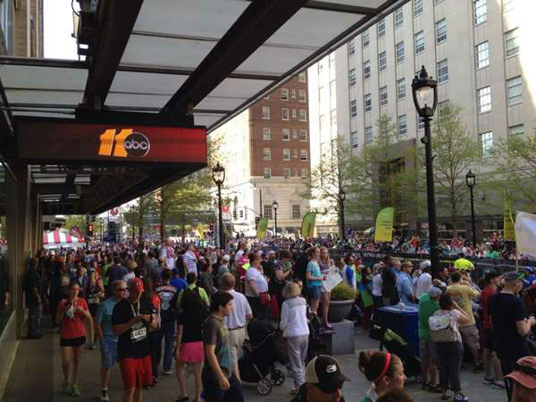 Raleigh&#39;s first ever Rock &#39;n&#39; Roll Marathon drew large crowds and big bucks. More than 12,000 runners from around the world participated in Sunday&#39;s big race. <span class=meta>(WTVD Photo&#47; Photo Courtesy: ABC11 Viewers)</span>