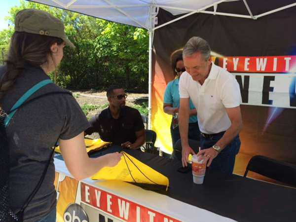 The Eyewitness News team was on hand all weekend at Fayetteville&#39;s annual Dogwood Festival. <span class=meta>(WTVD Photo&#47; Darin Dillehunt)</span>