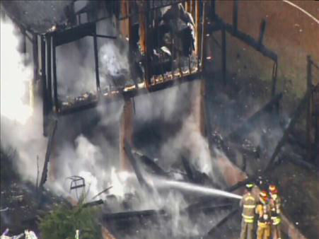"<div class=""meta ""><span class=""caption-text "">Several firefighters were called to a house fire on Morgan Road in Benson just after 10 a.m. Tuesday. (ABC11/Chopper11 HD)</span></div>"