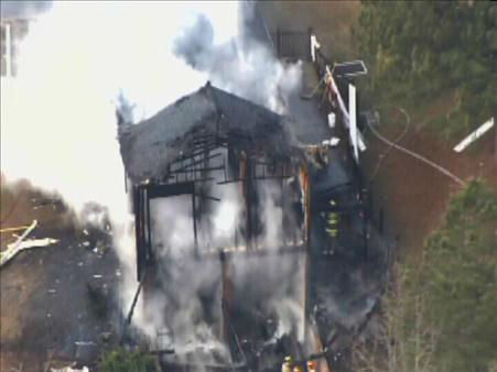 "<div class=""meta image-caption""><div class=""origin-logo origin-image ""><span></span></div><span class=""caption-text"">Several firefighters were called to a house fire on Morgan Road in Benson just after 10 a.m. Tuesday. (ABC11/Chopper11 HD)</span></div>"