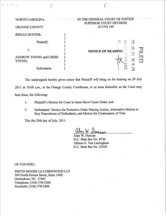 "<div class=""meta ""><span class=""caption-text "">Motion filed by lawyers for Rielle Hunter (WTVD Photo/ Court Document)</span></div>"