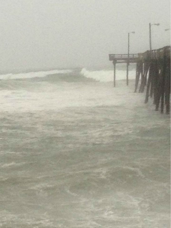 Here's what it looks like from the Nags Head Pier.