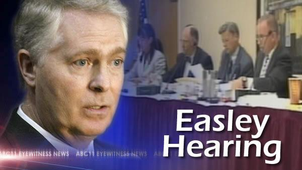 Easley testifies at hearing