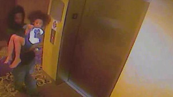 Police say this surveillance video shows Mario Andrette McNeill with Davis at a hotel in Sanford, NC.