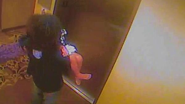 Police say this surveillance video shows Mario Andrette McNeill with Davis at a h