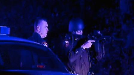 Several police officers were seen with guns drawn along Interstate 40 in Cary early Wednesday morning.