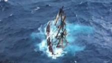 Replica of the HMS Bounty sank Monday