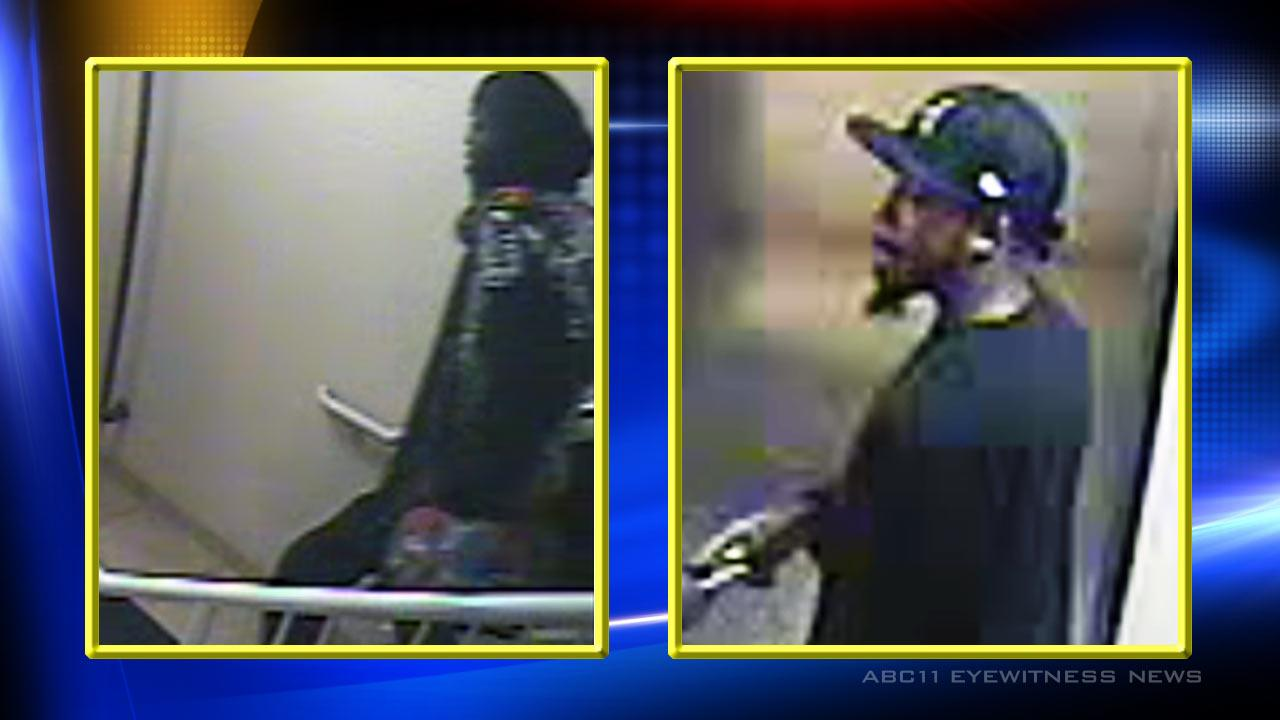 Authorities in Durham are trying to identify two suspects who allegedly robbed a woman inside her hotel room earlier this month. <span class=meta>(Photo courtesy of the Durham Police Department)</span>