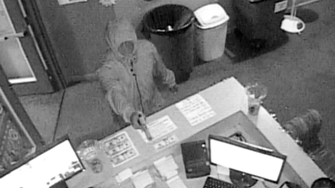 Fayetteville police are trying to identify a man involved in a robbery at the Crazy Sweepstakes Dec. 8, 2012.Photo courtesy of the Fayetteville Police Department