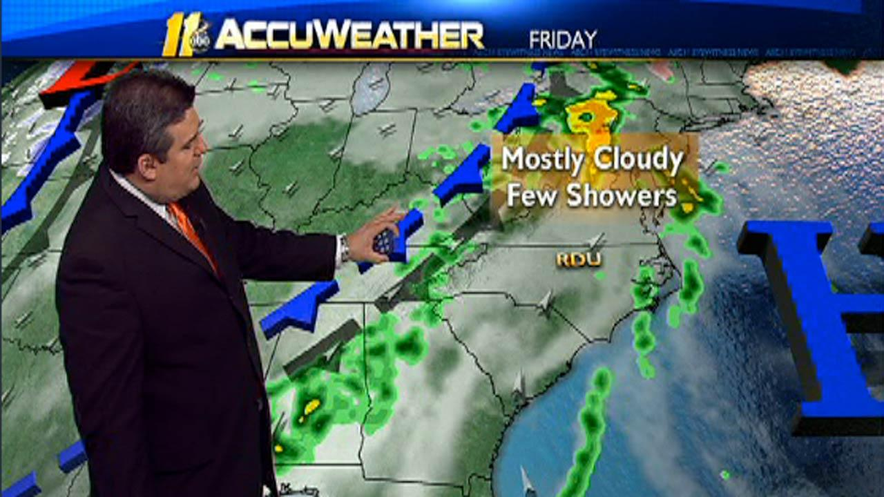 Soggy Friday to give way to Spring-like weekend