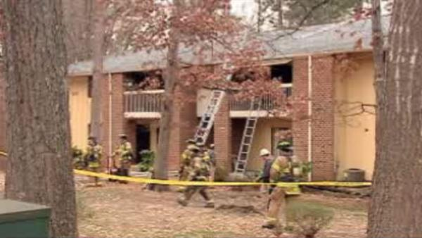 Several displaced in Raleigh apartment fire