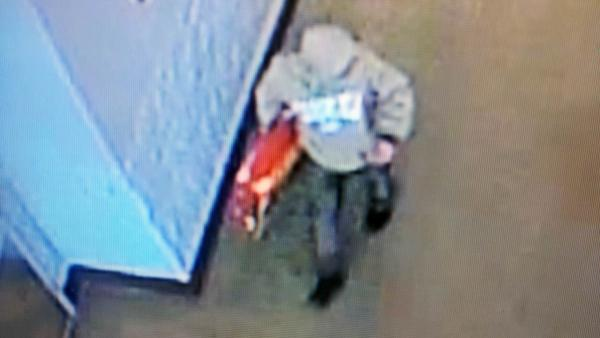 Authorities in Clayton are looking for a man involved in a hit-and-run after allegedly stealing a television from Walmart Thursday.