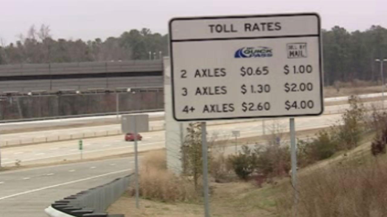 Stolen plate racks up toll bill