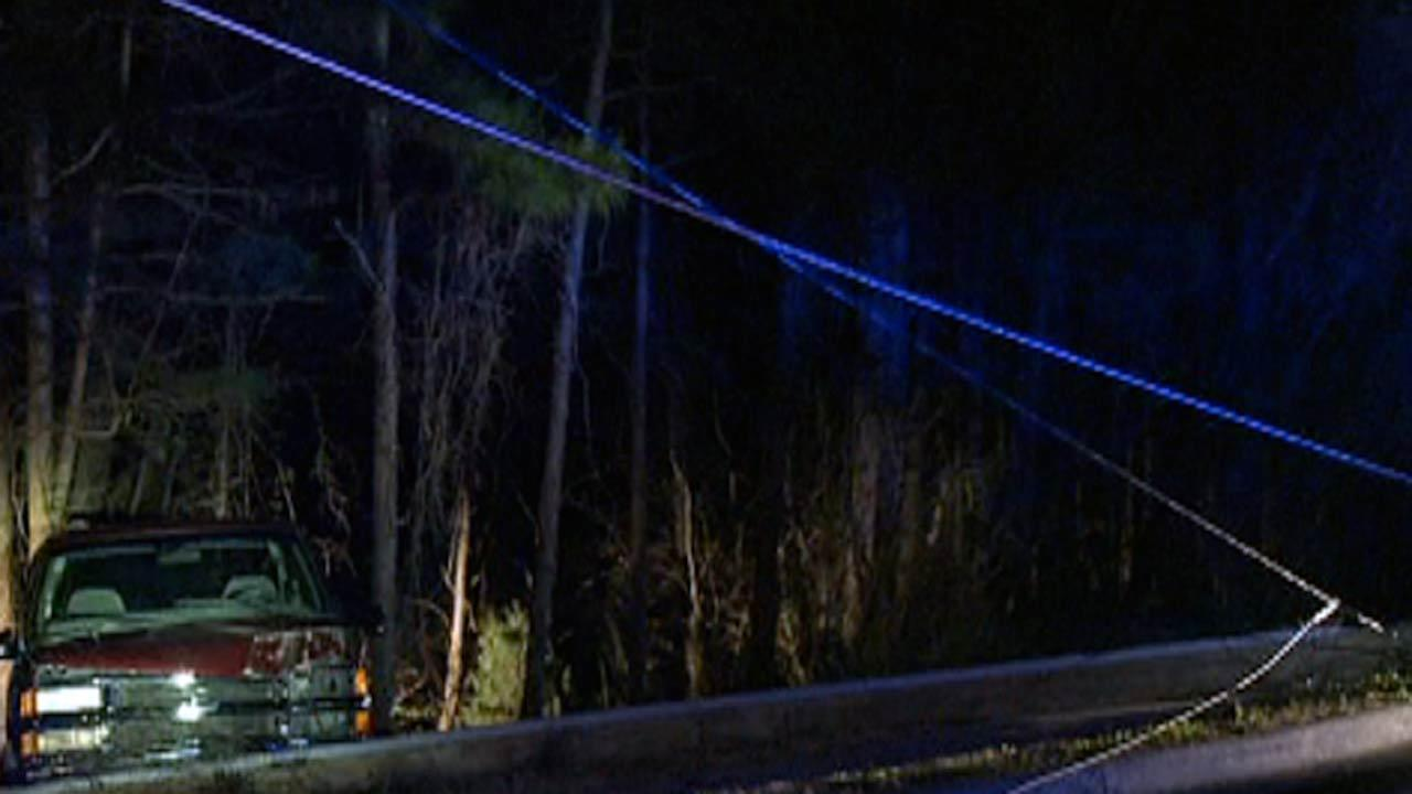 Section of Hillandale Road in Durham had to be closed early Wednesday morning after a truck crashed into a power pole.