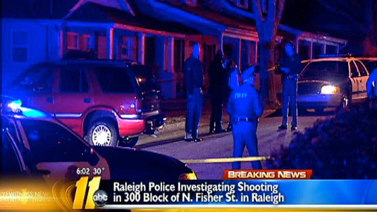 Raleigh police are searching for two men involved in early Friday morning shooting.