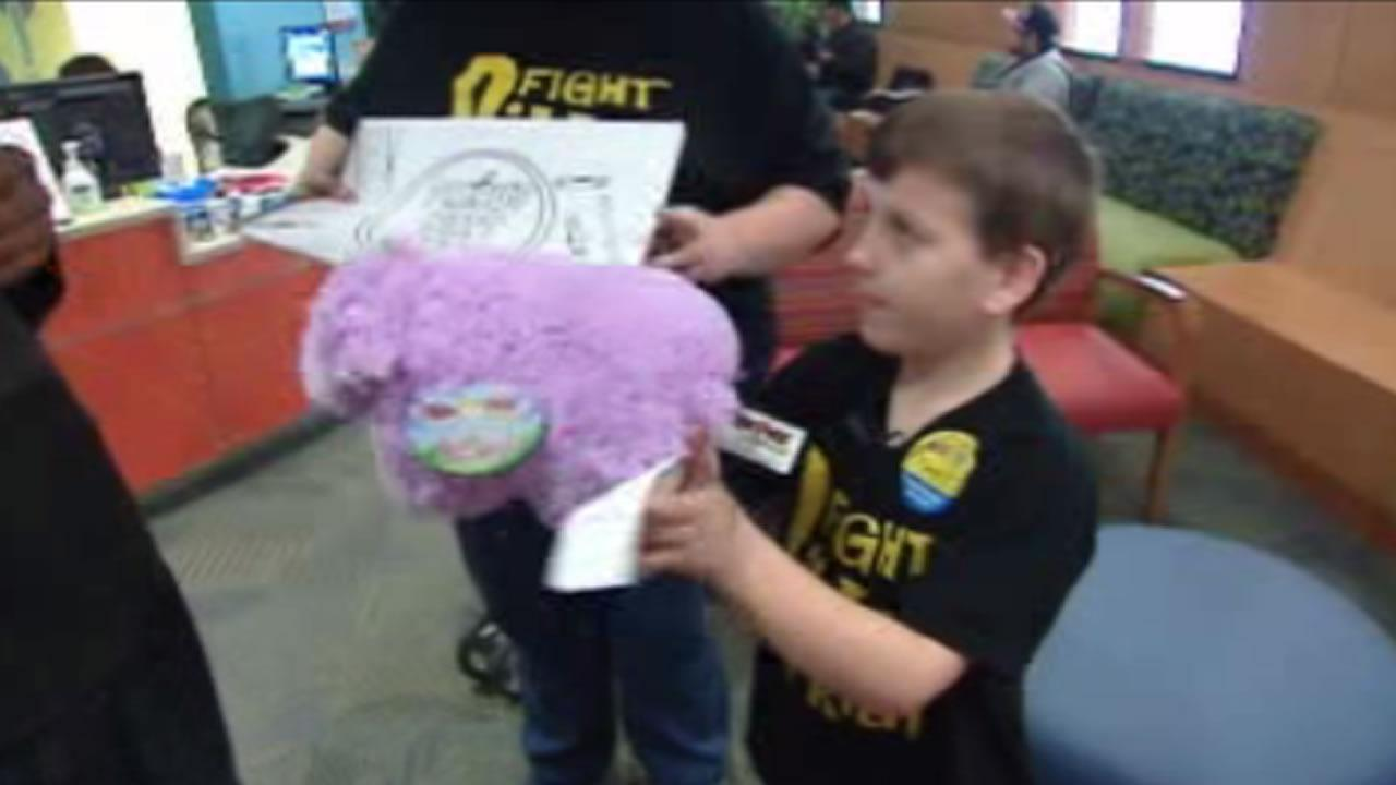 Xander Pond has been in remission for over a year, but wanted to bring presents to kids at UNC Hospital on his birthday