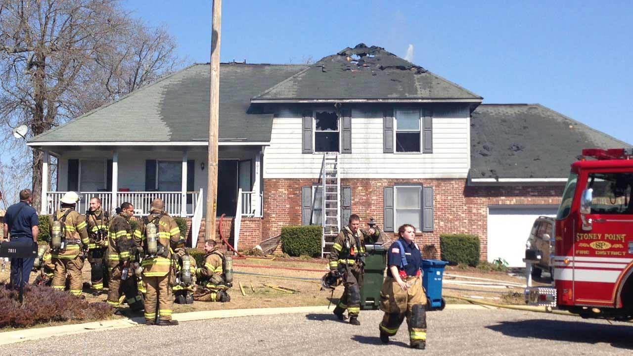 Authorities in Fayetteville are investigating a fire that severely damaged a Fayetteville home Friday morning.