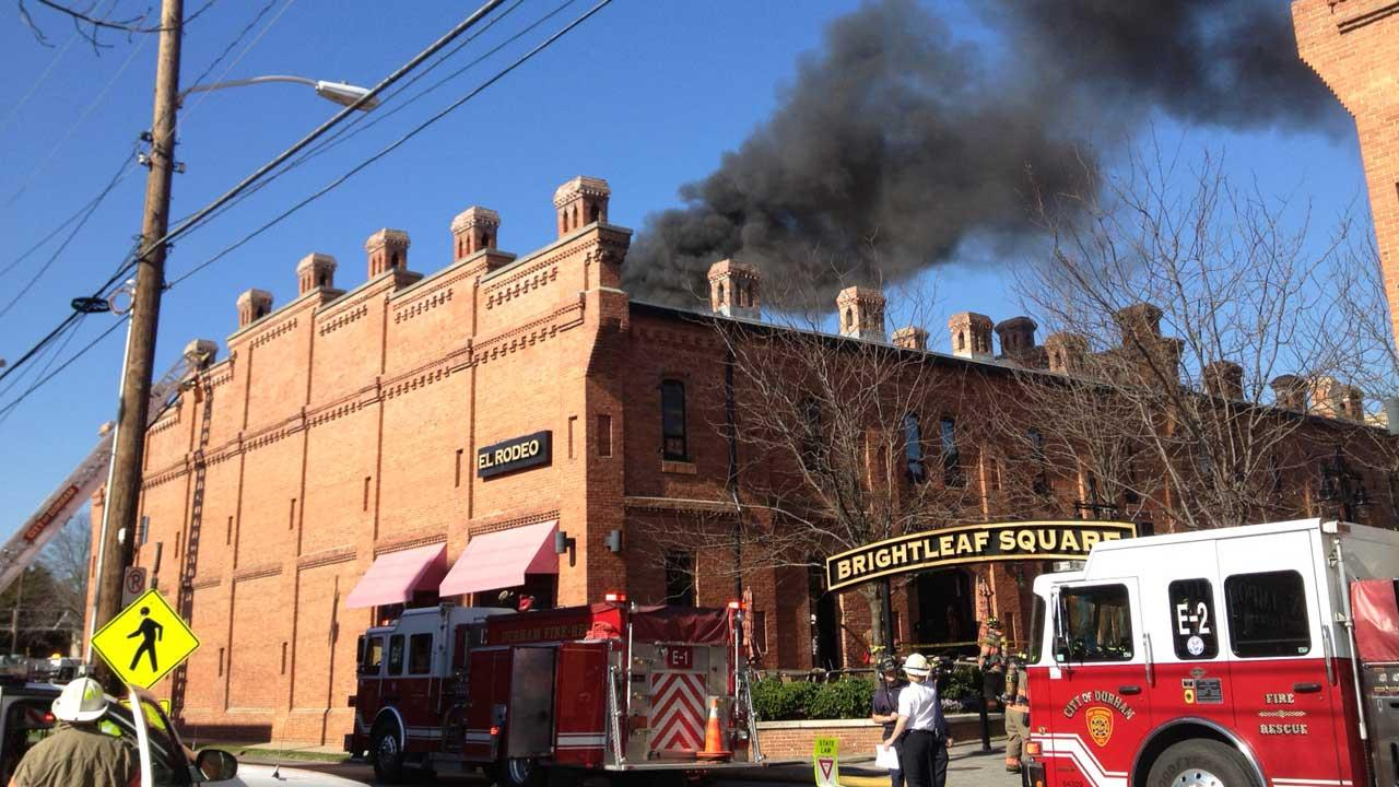 Firefighters battled a blaze at the El Rodeo restaurant in the 900 block of West Main Street in Durham. <span class=meta>(Rob Elmore)</span>
