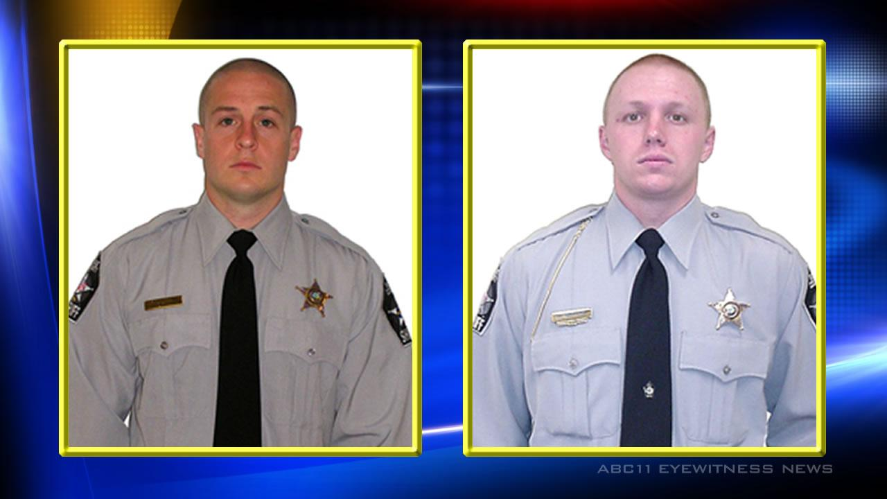 Deputy Matthew Johnson and Deputy Dusty MullenImages courtesy Wake County Sheriff's Office