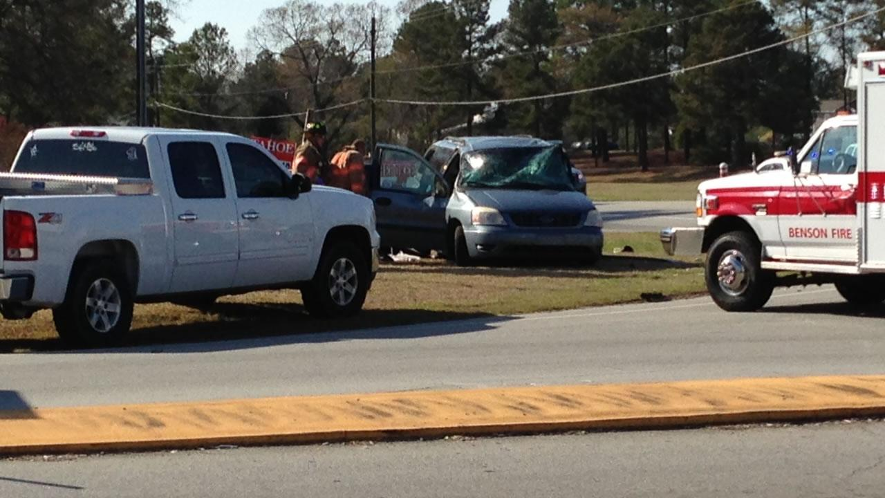 The crash happened Saturday afternoon at Red Hill Church Rd and NC 27, just west of BensonJason Thompson