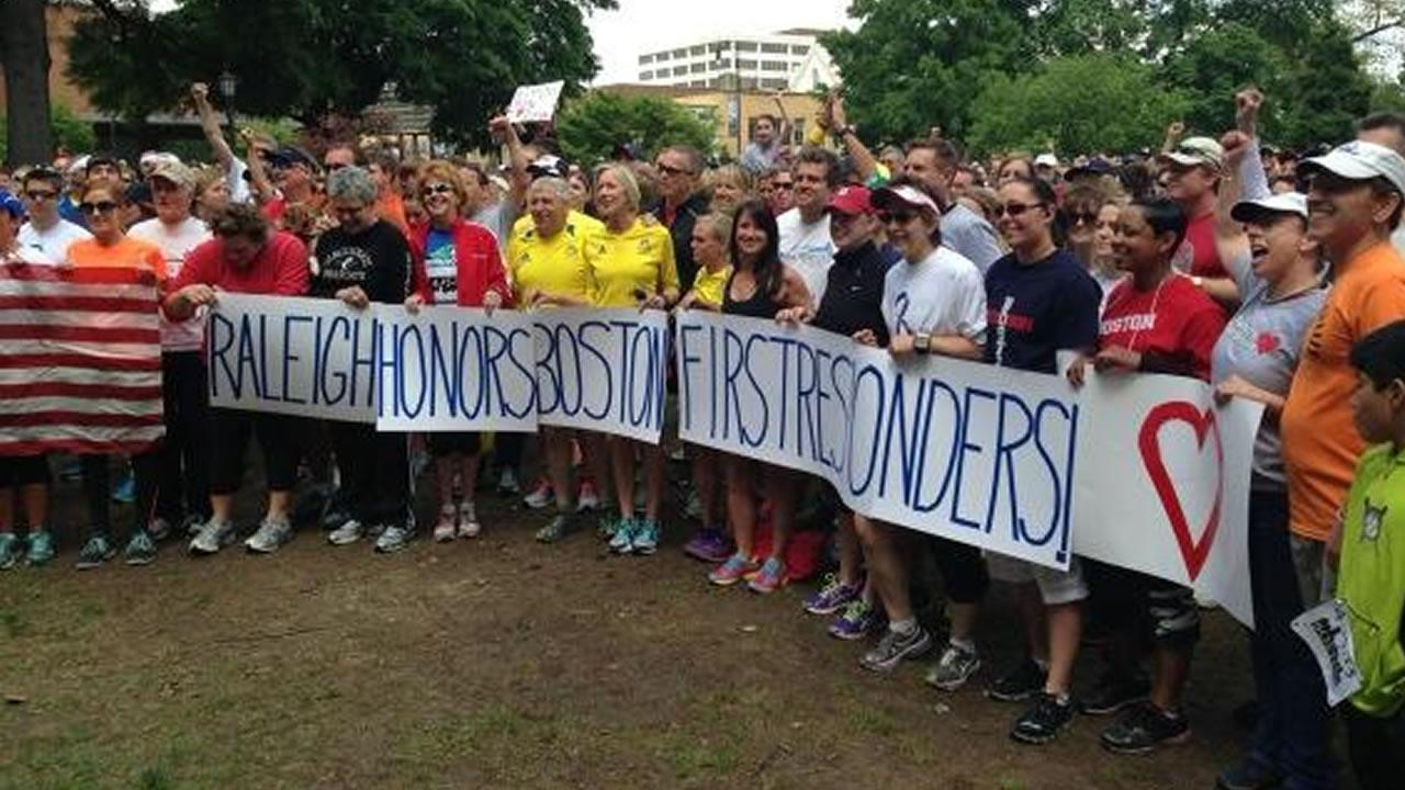 Raleigh runners honor Boston