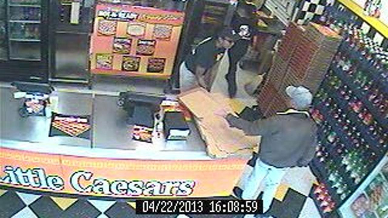 Authorities in Hope Mills are trying to identify a man who walked into a Little Caesars Pizza Monday evening demanding money.Photo courtesy of the Hope Mills Police Department