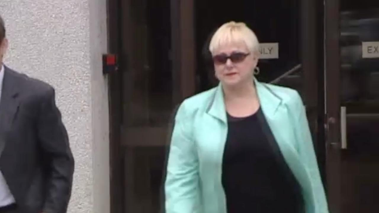 Carolyn Grant leaves court