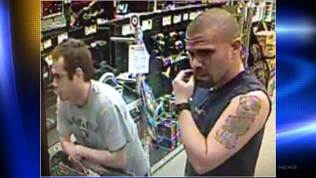 The Raleigh Police Department is requesting public assistance as it works to identify and arrest the two larceny suspects seen in the attached surveillance photo.