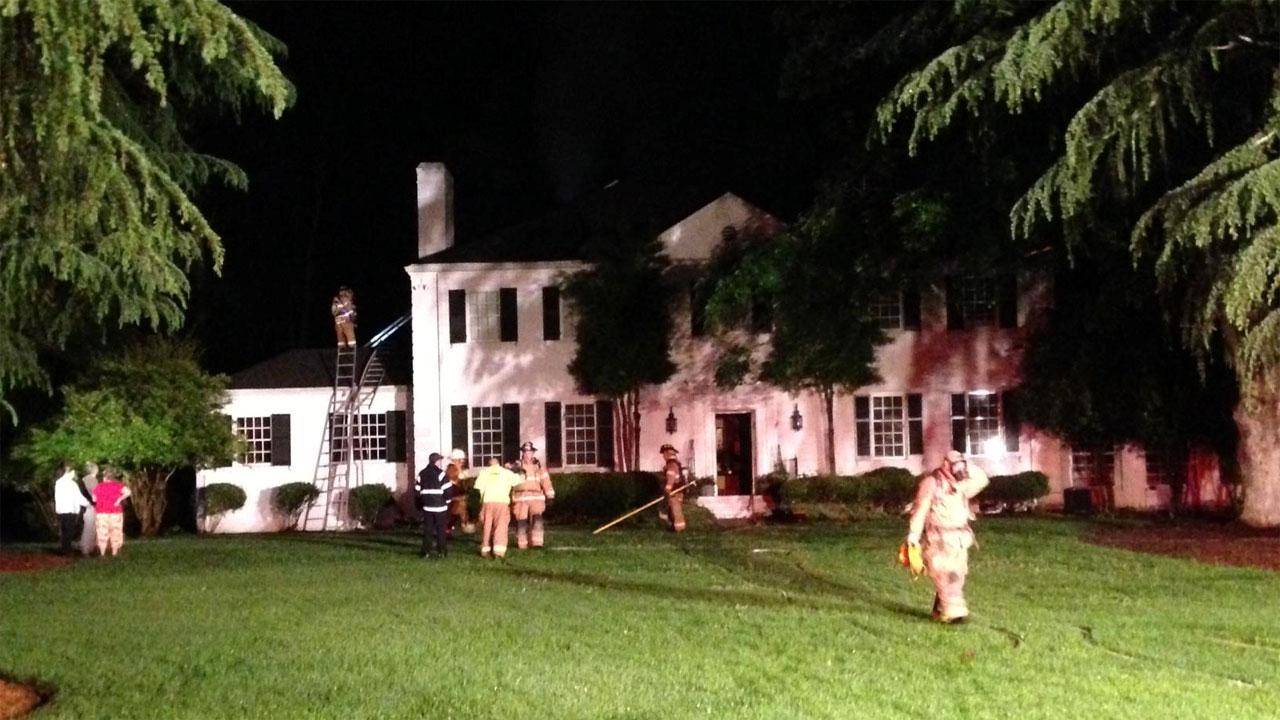 Fire broke out around 2 a.m. Thursday in the 300 block of West Gannon Avenue in Zebulon.