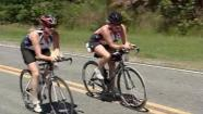 Amy Higgenbotham and Roxanne Purvis are completing an Iron Man competition and raising money for a good cause