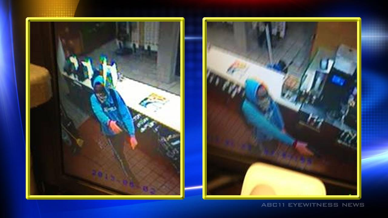 Cary police are searching for two suspects in an overnight robbery of a McDonalds.