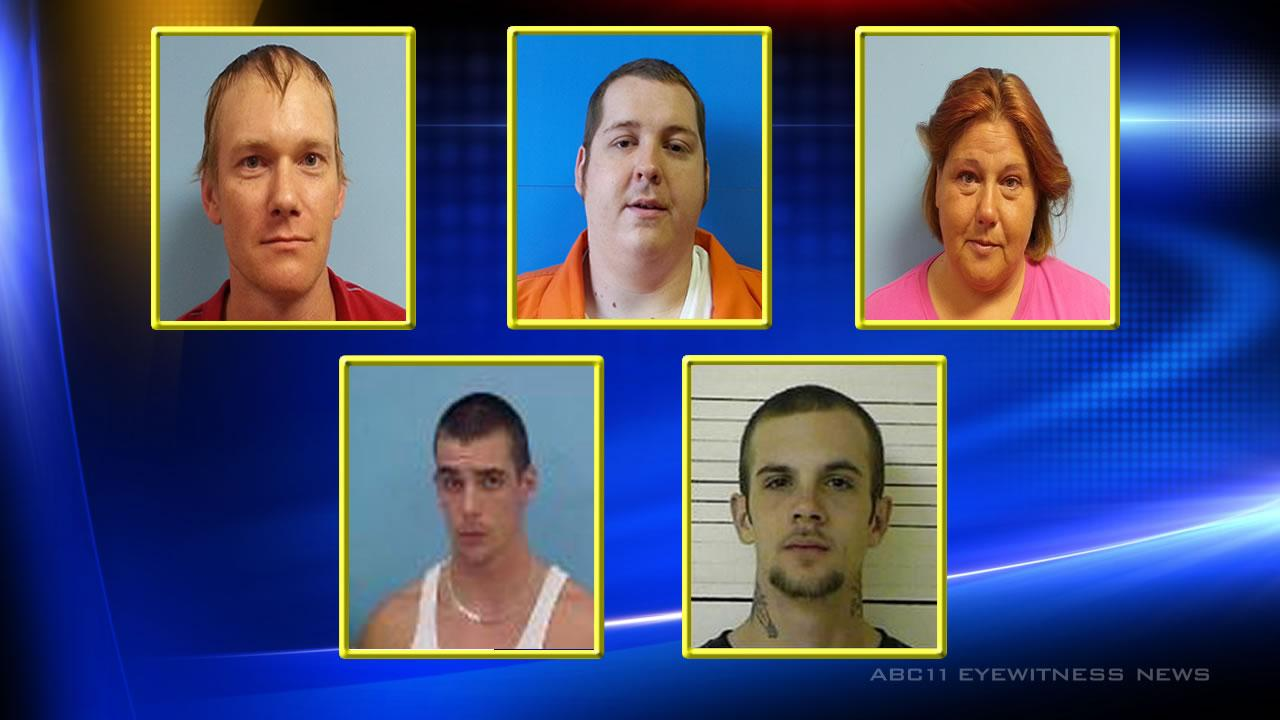 Five suspects charged in connection with the May attempted murder of a woman in Halifax County